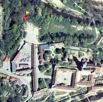 Luftbild - Lage der Mariengrotte