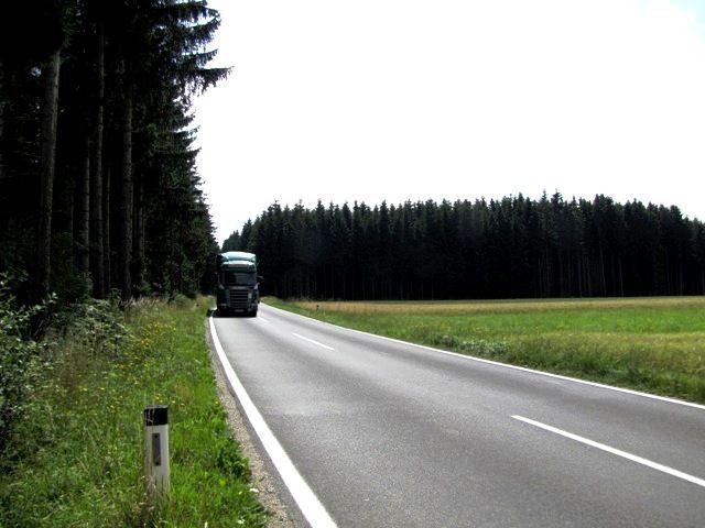 Auf der Bundesstraße