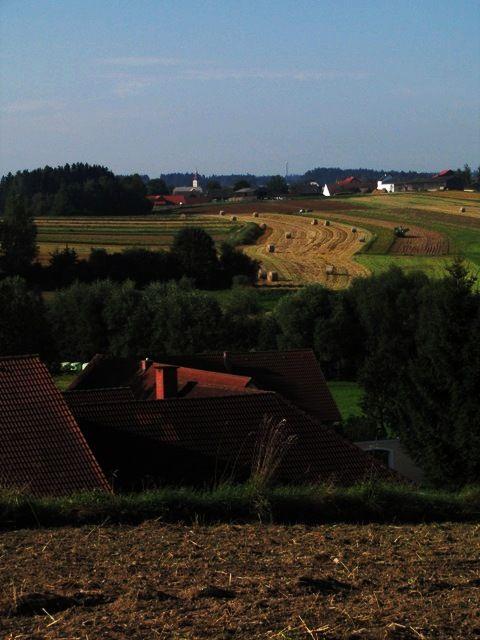 Im Hintergrund Großglobnitz