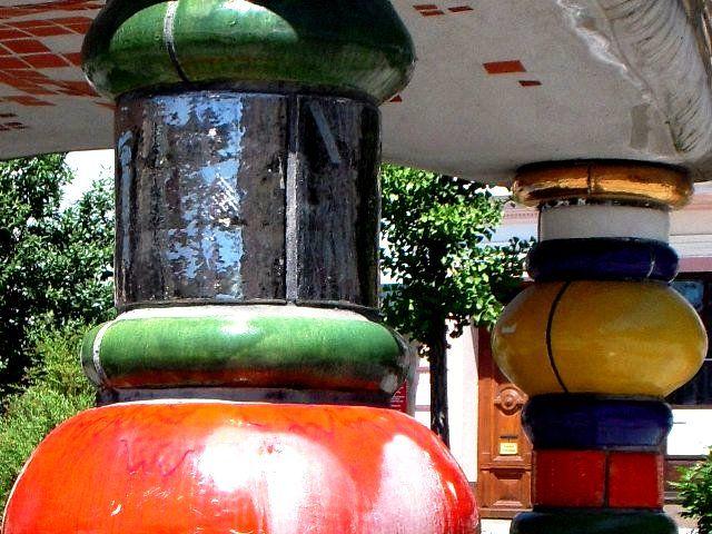 Hundertwasserbrunnen Zwettl Detail