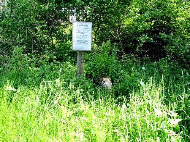 Der Freiheitsstein am Waldrand
