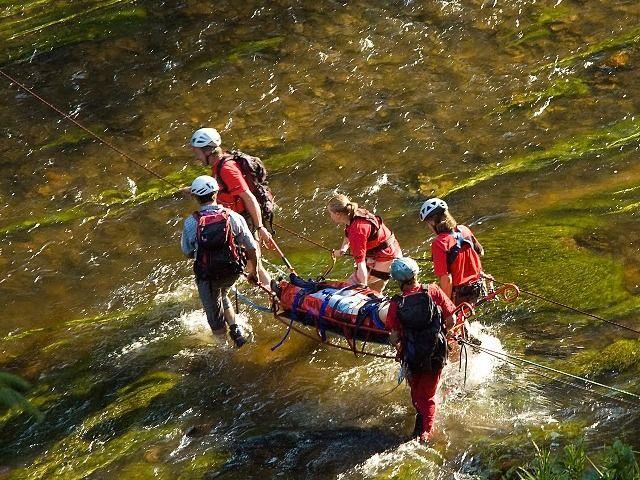 Die Alpenvereinstrage im Einsatz