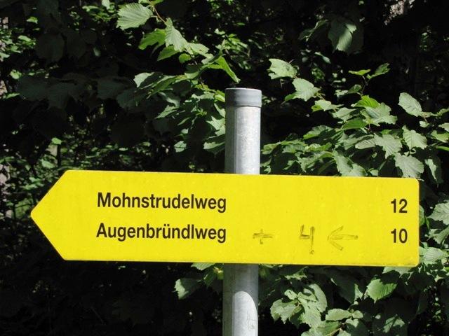 Wegweiser in Rabenhof