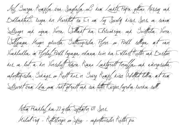 Urteil vom 22.September 1611