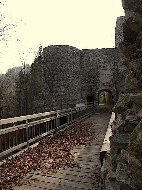 Ruine Dobra Zugang