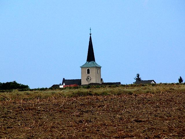 Der Kirchturm von Brand