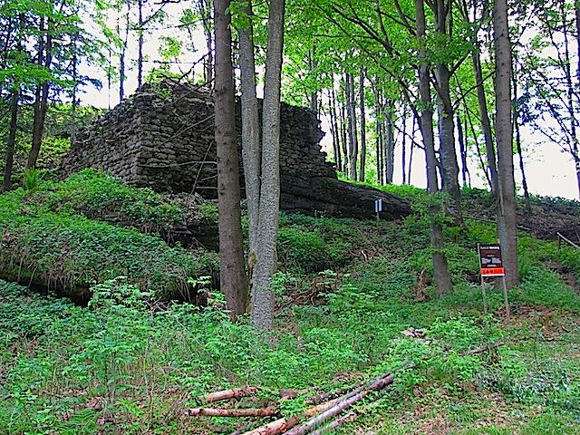 Reste des Bergfrieds