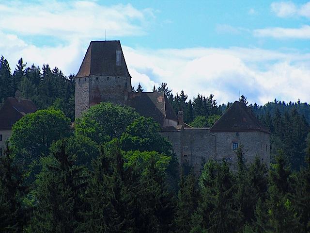 Blick zur Burg Rastenfeld