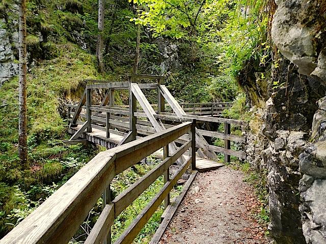 Weg mit Brücke
