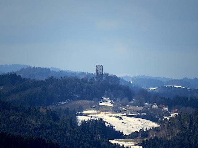 Blick zur Ruine Arbesbach