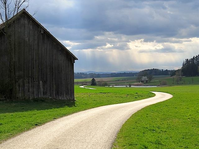 Richtung Badeteich