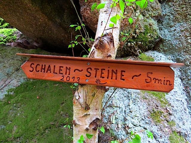 Zugang Schalensteine
