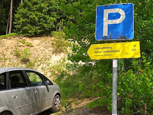 Parkplatz Lohnbachfall
