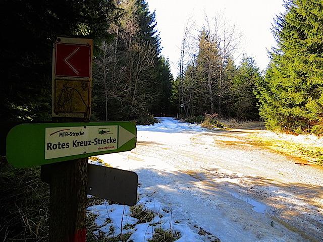 Der äußerst rechte Waldweg