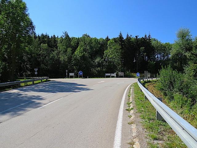Straße Richtung Lichtenau