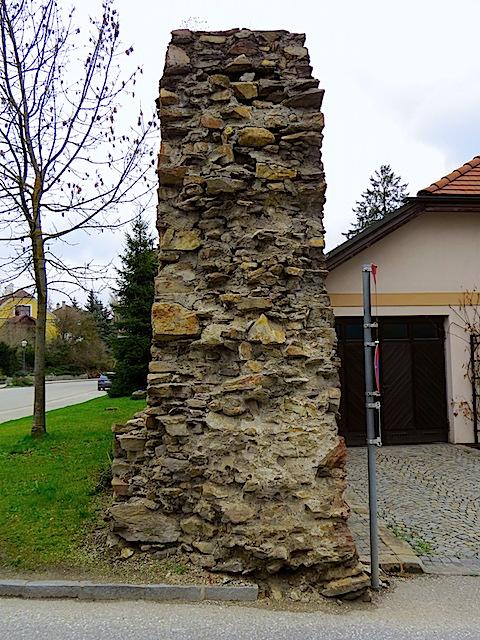 Profil der Stadtmauer