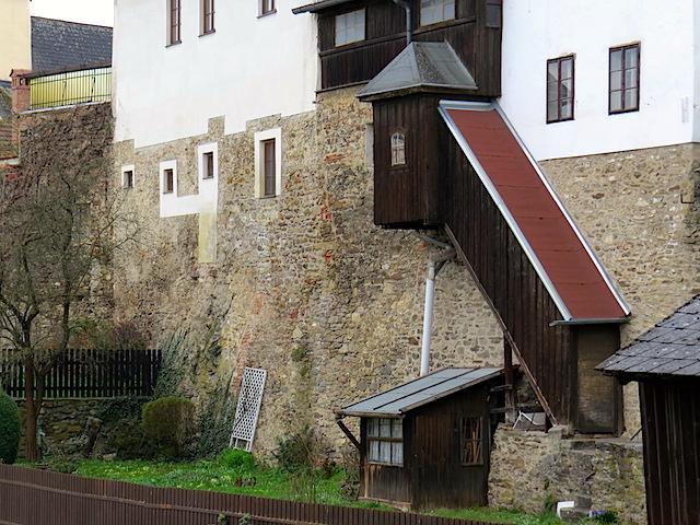 Holzstiegenaufgang