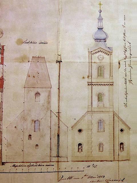Bauplan Mai 1853