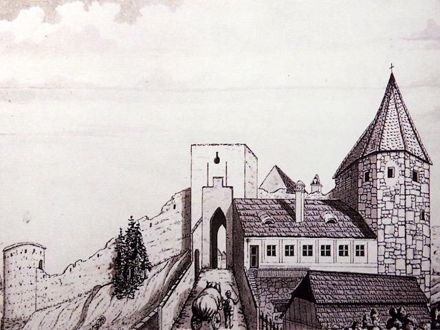 Das obere Thor in Zwettl 1850