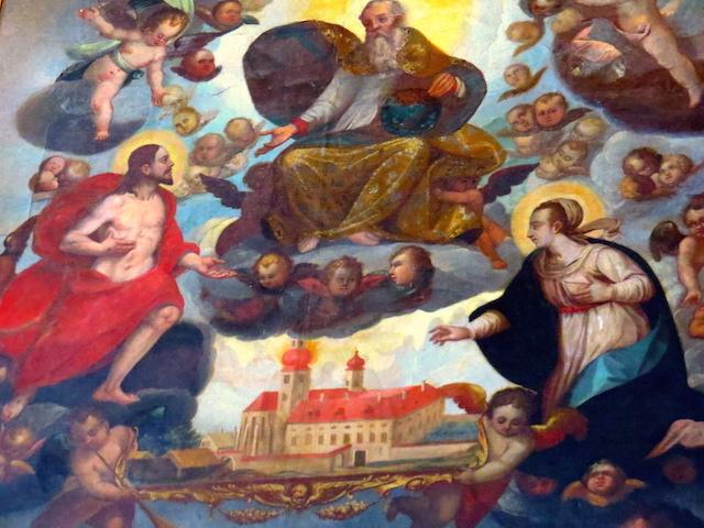 Christus mit echten Haaren