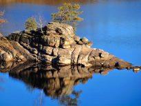 Das Krokodil im Stausee Ottenstein