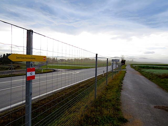 Übergang Bundesstraße