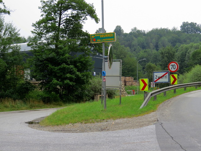 Abzweigung Gradnitztalweg