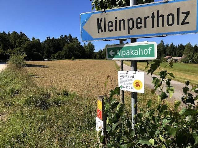 Richtung Alpakahof