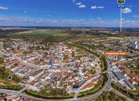 Panorama Stadtplan Zwettl